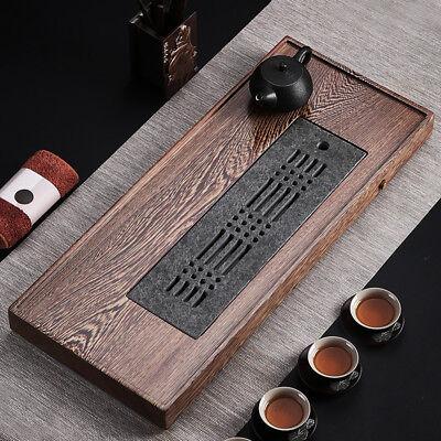 35cm*20cm black stone tea tray reservoir serving tray water draining tea plate