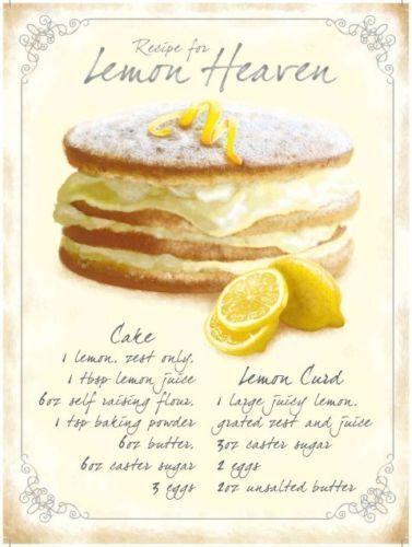 Lemon Heaven Baking Recipe Kitchen Cafe /& Restaurant Medium Metal Steel Sign