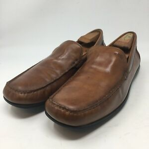 lowest price big discount online shop ECCO Casual Slip On Driving Loafers Brown Leather Mens 45 US 11 ...