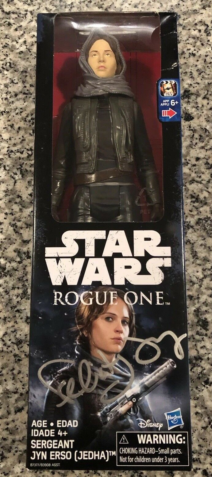 """Rogue One  A Star Wars Story"" Felicity Jones Autograph Signed Figure"