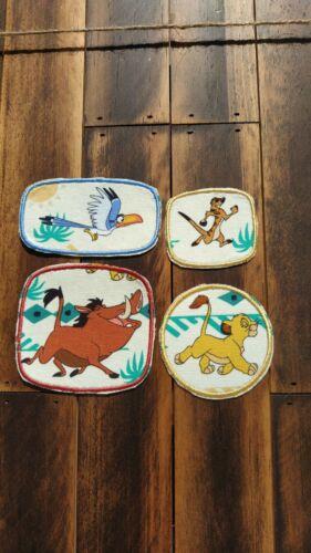 Patch Iron-On or Sew-On Simba Pumbaa Timon ZaZu CARTOON CHARACTERS