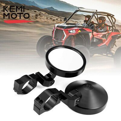 Motobiker 1.75 Round Billet Side Rear View Mirrors for 4.7 Clamp for Can am Commander Maverick for Polaris RZR XP1000 RZR XP 4 UTV