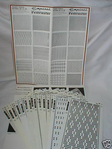 Impreso de Pre patrón conjuntos Knitmaster Máquina De Tejer 2-K52 51 52