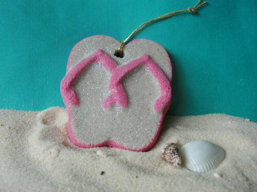 FLIPFLOPS on a string Hot Pink Tropical Beach Ornament