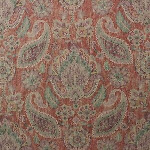 "P KAUFMANN IRRESISTIBLE TOMATO RED FLORAL PAISLEY VINE FABRIC BY YARD 54/""W"