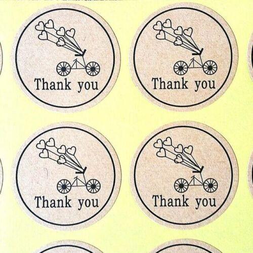 Gracias Pegatinas Etiquetas Kraft Comida de Regalo Artesanía Baby Shower Boda Craft