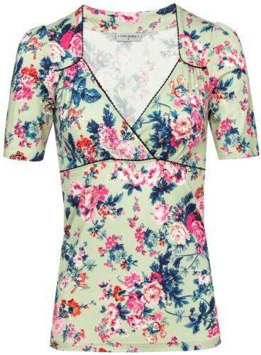 Vive Maria BLOOMY DAY Vintage Floral Blüten Romantic SHIRT Oberteil Rockabilly