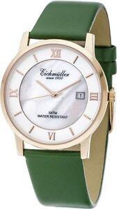 Eichmuller-Montre-femmes-3250-05-vert-emeraude-rose-nacre-Bracelet-en-cuir-37-mm