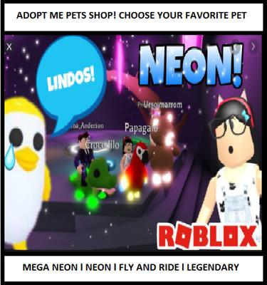 Adopt Me Pets Shop Mega Neon Fly And Ride Legendary Ultrarare Rare Ebay