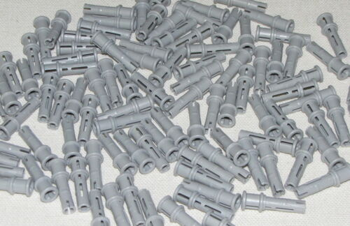 Lego Lot of 100 New Light Bluish Gray Technic Pin Long with Stop Bush