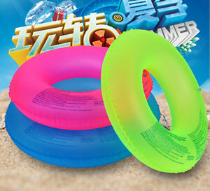 Inflatable-Donut-Swim-Ring-Fun-Pool-Swimming-Aid-Pool-Water-Float-Raft-Tube-Toy