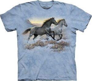 Mountain Unisex Shirt Running The Free Horses Adult nRqgxxHIYE
