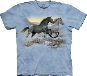 Running Unisex Horses Free Mountain The Shirt Adult 4qAUw4