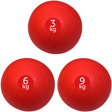 Set di 3 Rosso FXR Sports NO Bounce SLAM Palline Palla Palestra Fitness (3kg, 6kg, 9kg)