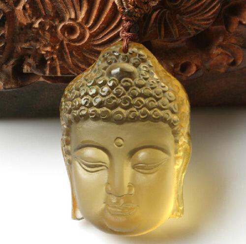 natural Citrine Hand carved Citrine buddha guanyin charm zen pendant