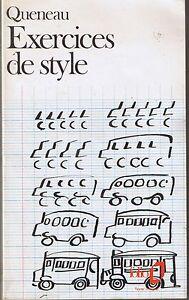 Queneau Exercices De Style Folio Texte Integral 99 Fois Le Meme Recit Ebay
