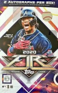 2020 Topps Fire Hobby Box Factory Sealed (2) Autographs Per Box Rookie Cards MLB
