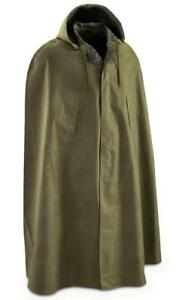 Military-Surplus-Item-Heavy-Duty-Rubber-Coated-Rain-Cape-One-Size-Green