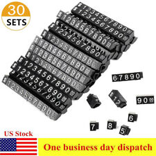 30 Sets Cubes Kit Price Display Tags Adjustable Number Stand Frame Label Shop Us