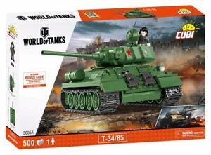 AgréAble World Of Tanks-t34/85 - 425 Pcs Jouet-afficher Le Titre D'origine