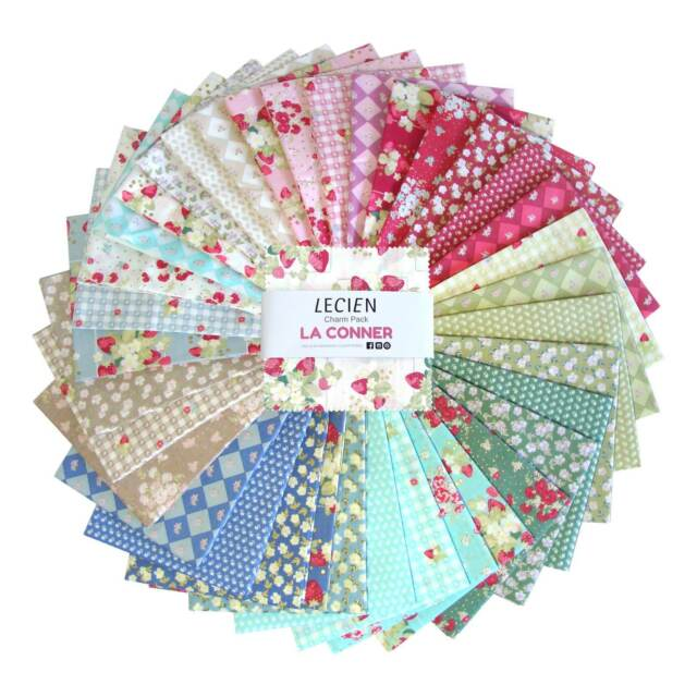 Lecien Fabric La Conner Floral Charm Pack by Jera Brandvig Quilting in the Rain