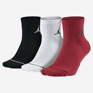 Jordan-Jumpman-3-Pack-Quarter-Socks-Red-White-Black-Nike-Basketball-SX5544-011