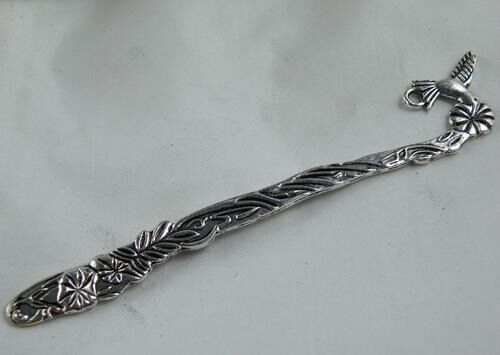 10pcs Tibetan Silver Bird Bookmarks Charms Jewelry DIY 125x21mm 10059