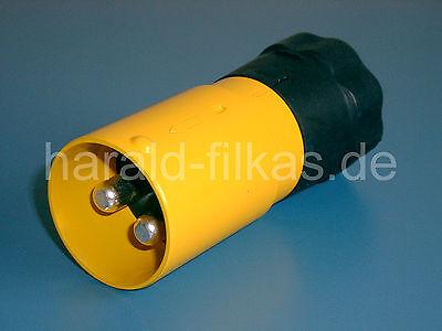 """NATO Stecker gelb Plastik 50mm² nach VDA 72593 für /""""Schweinenase/"""" bis 42 Volt"""