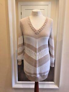 low priced bc359 7b38f Details zu Pullover Strickpullover Baumwolle Pulli Damen sand weiss Gr. 48