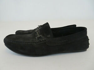 Tod-s-Men-s-Shoes-Black-Suede-Driving-Moccasins-Size-8-Loafers-Slip-On