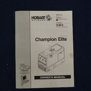 details about hobart welders champion elite owners manual om 240 438c Stero Dishwasher Wiring Diagrams
