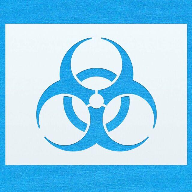 Atom Zeichen Schablone Nuclear Fallout Stencil