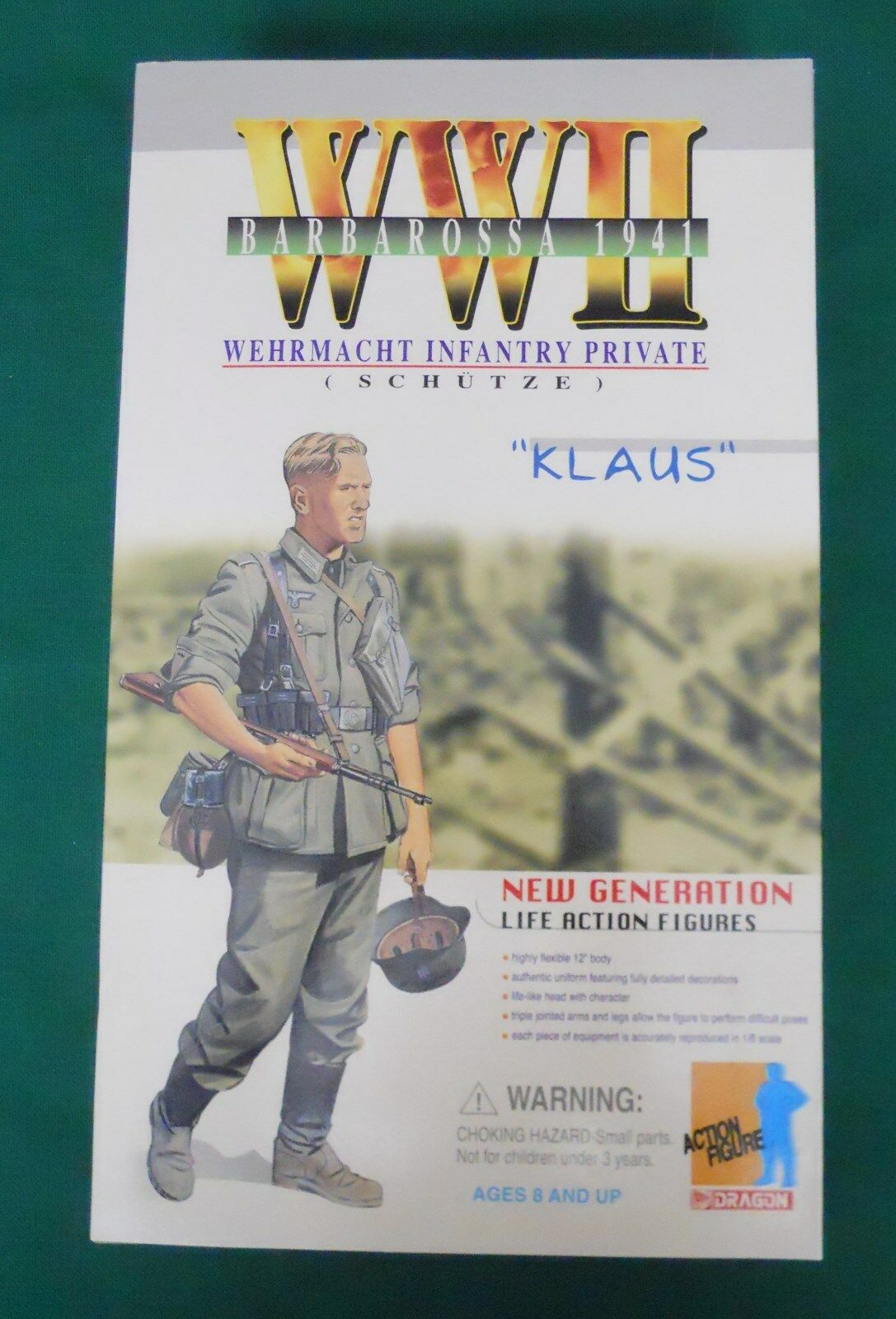 DRAGON 1 6 FIGURE WWII BARBAROSSA 1941 WEHRMACHT INFANTRY PRIVATE  KLAUS  NIB