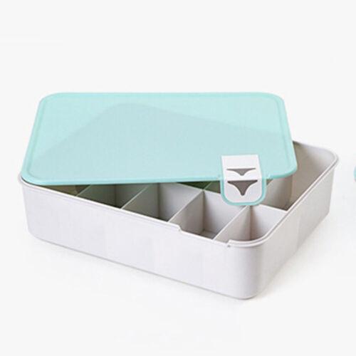 Practical Underwear Bra Socks Ties Divider Drawer Organiser Storage Case Box 1*