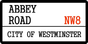28cm x 14.5cm ABBEY ROAD MUSIC BEATLES LONDON POP ROCK  129 METAL SIGN