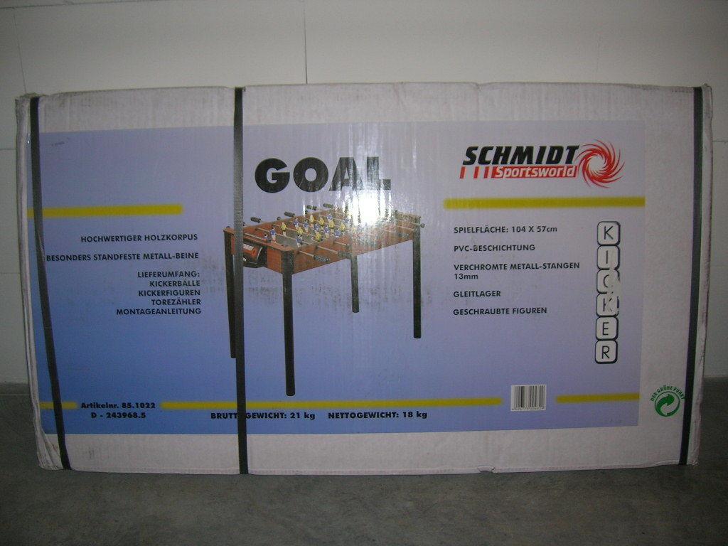 Schmidt Sportsworld Kicker Futbolín de Mesa 104 X 57cm Art. 85-1022 Nuevo