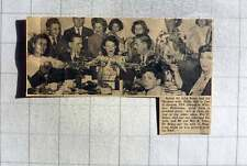 1949 Farewell Party Whitton Middlesex For John And Hilda Baker To Live Oregon Us