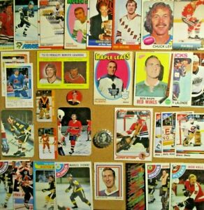 1969-70/80s+NHL Lot**Jacques Plante/Orr/Mikita/Gretzky/Lafleur/T.Esposito/G.Howe