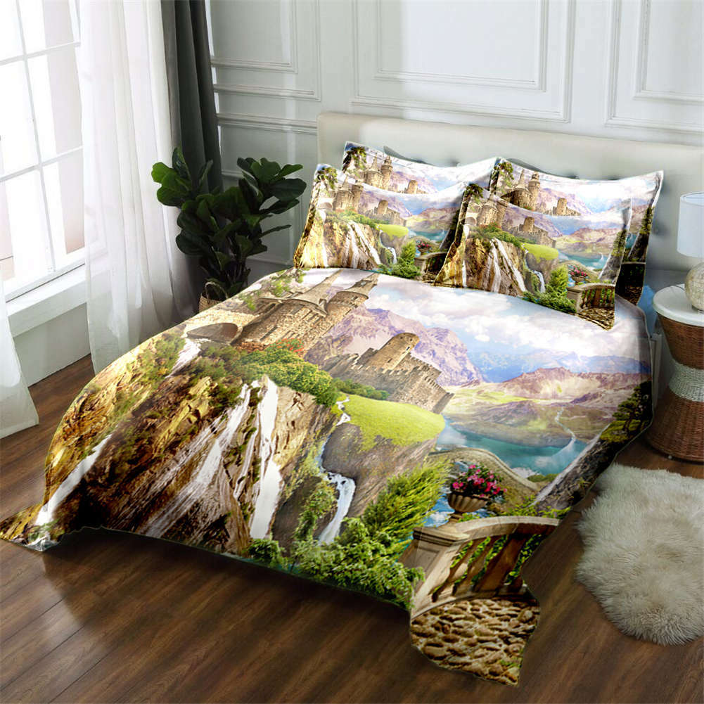 Steep Precipice 3D Printing Duvet Quilt Doona Covers Pillow Case Bedding Sets