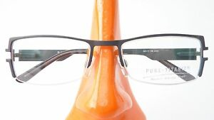 Titanium-Glasses-Frame-Black-Green-Teilrandlos-with-Spring-Clip-Ladies-Size-M