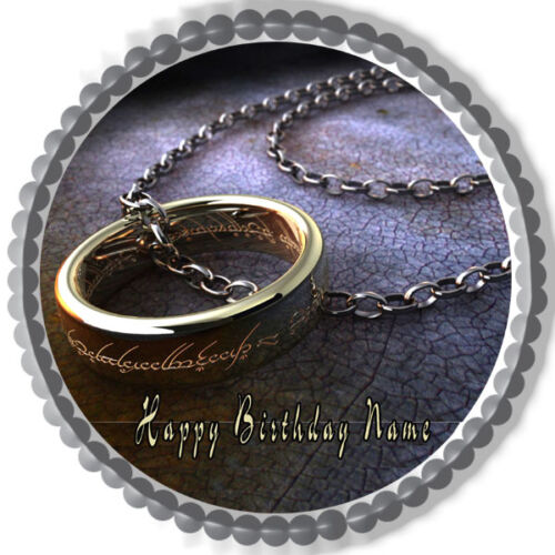 Edible Cake Topper OR Cupcake Topper Lord of the Ring Decor