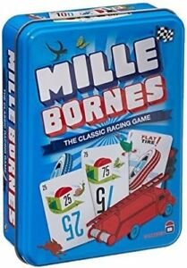 Mille Bornes Classic French Racing Card Game New Editon In Tin Asmodee ASM MIB01