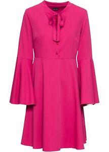 Kleid Gr. 38 Pink Damen Mini-Kleid Langarm Freizeitkleid ...