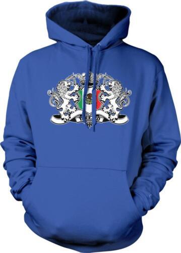 Mexican Heraldic Lions Orgullo Bandera Mexicana Mexicanos Pride Hoodie Pullover