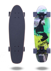 Green and Black wheel groove smooth turning experience 7in Cruiser Skateboard