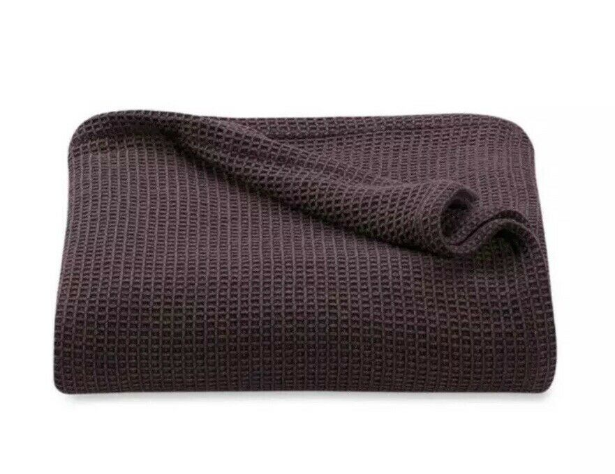 Kenneth Cole Reaction Home Waffle Blanket Full Queen Wine New Cotton Linen
