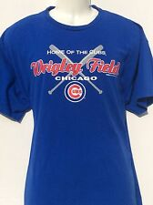 WRIGLEY FIELD Home of the Chicago Cubs blue t shirt sz XL by Stitches 2007