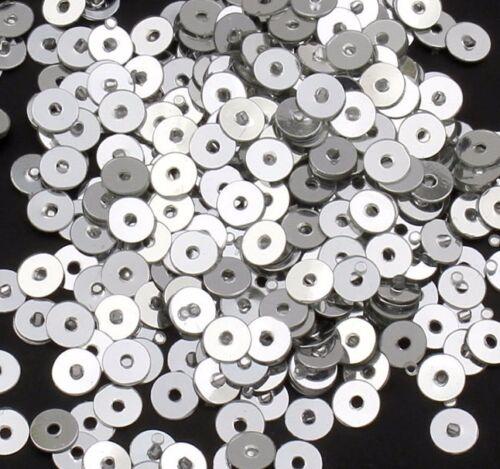 2400 lentejuelas 3mm plata alrededor de liso perlas bricolaje coser decoración Best pai21