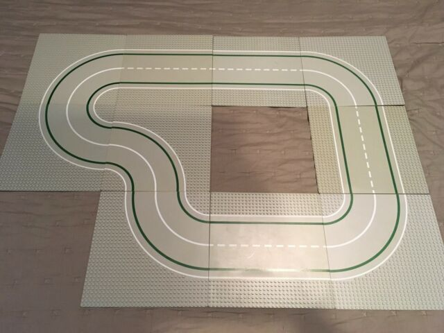 Lego 32x32 Pin Curved Grey Road
