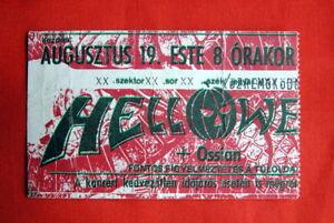 HELLOWEEN-RARE-TICKET-STUB-HUNGARY-1988-KAI-HANSEN-SPEED-THRASH-METAL-GAMMA-RAY